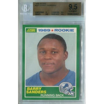 1989 Score Football #257 Barry Sanders RC BGS 9.5 (Gem Mint) *0407 (Reed Buy)