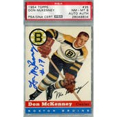 1954/55 Topps #35 Don McKenney RC PSA 8 Auto AUTH *9804 (Reed Buy)