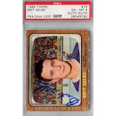 1966/67 Topps #18 Brit Selby RC PSA 6 Auto AUTH *9792 (Reed Buy)
