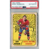 1967/68 Topps #8 Garry Monahan RC Auto AUTH *3538 (Reed Buy)