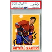 1970/71 O-Pee-Chee #174 Rejean Houle RC PSA 6 Auto AUTH *0590 (Reed Buy)