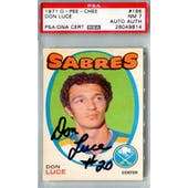 1971/72 O-Pee-Chee #166 Don Luce RC PSA 7 Auto AUTH *9814 (Reed Buy)