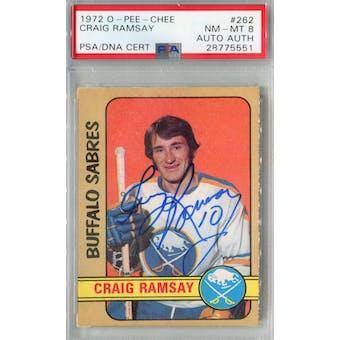 1972/73 O-Pee-Chee #262 Craig Ramsay RC PSA 8 Auto AUTH *5551 (Reed Buy)