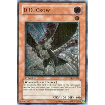 Yu-Gi-Oh Strike of Neos Single D.D. Crow Ultimate Rare - 1st Edition - MODERATE PLAY (MP)