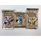 Pokemon Fossil 1st Edition 3 Booster Pack ART SET (Zapdos, Lapras, Aerodactyl) WOTC