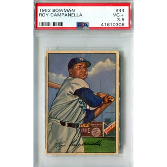 1952 Bowman Baseball #44 Roy Campanella PSA 3.5 (VG+) *0306 (Reed Buy)