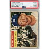 1956 Topps Baseball #135 Mickey Mantle GB PSA 2 (MK) (Good) *2182 (Reed Buy)