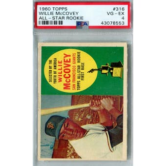 1960 Topps Baseball #316 Willie McCovey RC PSA 4 (VG-EX) *8553 (Reed Buy)