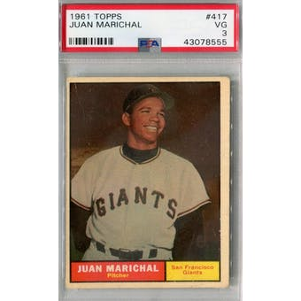 1961 Topps Baseball #417 Juan Marichal RC PSA 3 (VG) *8555 (Reed Buy)
