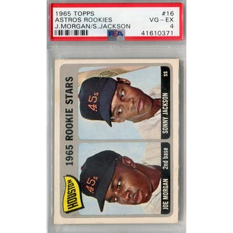 1965 Topps Baseball #16 Joe Morgan RC PSA 4 (VG-EX) *0371 (Reed Buy)