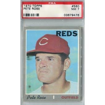 1970 Topps Baseball #580 Pete Rose PSA 7 (NM) *9476 (Reed Buy)