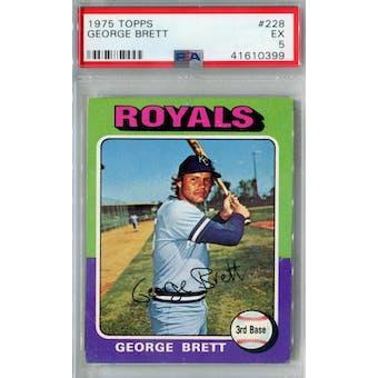 1975 Topps Baseball #228 George Brett RC PSA 5 (EX) *0399 (Reed Buy)