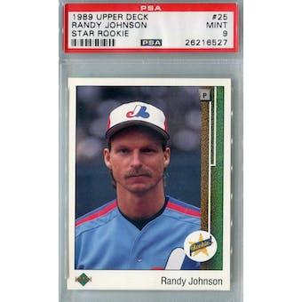 1989 Upper Deck Baseball #25 Randy Johnson RC PSA 9 (Mint) *6527 (Reed Buy)