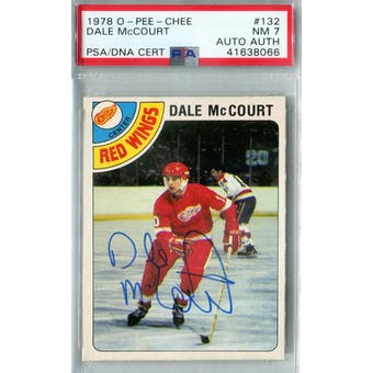1978/79 O-Pee-Chee #132 Dale McCourt RC PSA 7 Auto AUTH *8066 (Reed Buy)