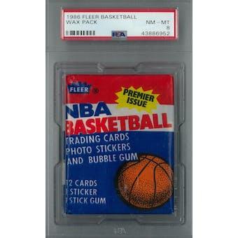 1986/87 Fleer Basketball Wax Pack PSA 8 (NM-MT) *6952