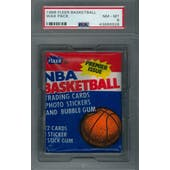 1986/87 Fleer Basketball Wax Pack PSA 8 (NM-MT) *6928