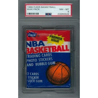 1986/87 Fleer Basketball Wax Pack PSA 8 (NM-MT) *6928