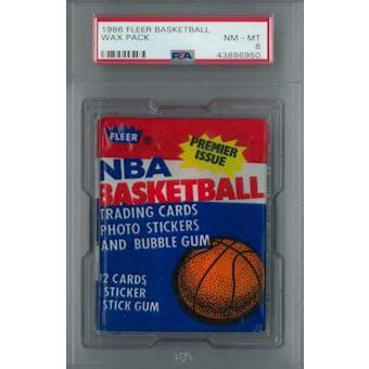 1986/87 Fleer Basketball Wax Pack PSA 8 (NM-MT) *6950