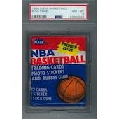 1986/87 Fleer Basketball Wax Pack PSA 8 (NM-MT) *6942