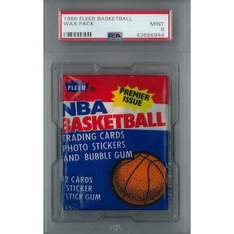 1986/87 Fleer Basketball Wax Pack PSA 9 (NM-MT) *6944