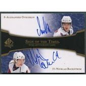 2007/08 SP Authentic #ST2AN Alexander Ovechkin & Nicklas Backstrom Sign of the Times Dual Auto