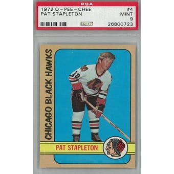 1972/73 O-Pee-Chee Hockey #4 Pat Stapleton PSA 9 (Mint) *0723 (Reed Buy)