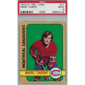 1972/73 O-Pee-Chee Hockey #11 Marc Tardif PSA 9 (Mint) *0732 (Reed Buy)