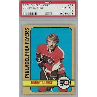 1972/73 O-Pee-Chee Hockey #14 Bobby Clarke PSA 8 (NM-MT) *4023 (Reed Buy)