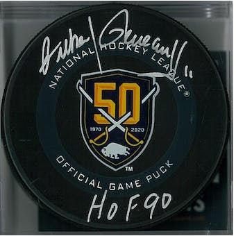 Gilbert Perreault Autographed Buffalo Sabres Official Anniversary Hockey Puck