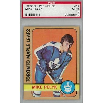 1972/73 O-Pee-Chee Hockey #17 Mike Pelyk PSA 9 (Mint) *9919 (Reed Buy)
