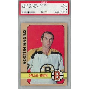 1972/73 O-Pee-Chee Hockey #21 Dallas Smith PSA 9 (Mint) *3736 (Reed Buy)