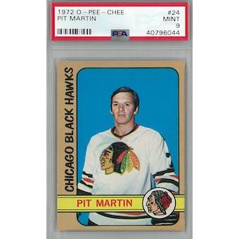 1972/73 O-Pee-Chee Hockey #24 Pit Martin PSA 9 (Mint) *6044 (Reed Buy)