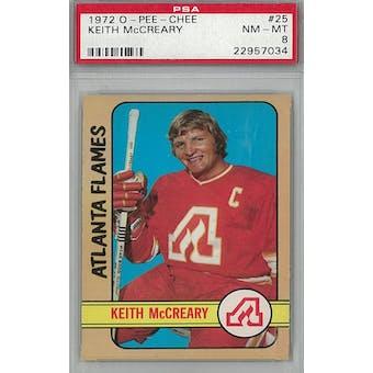 1972/73 O-Pee-Chee Hockey #25 Keith McCreary PSA 8 (NM-MT) *7034 (Reed Buy)