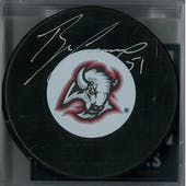 Brian Campbell Autographed Buffalo Sabres Head Hockey Puck