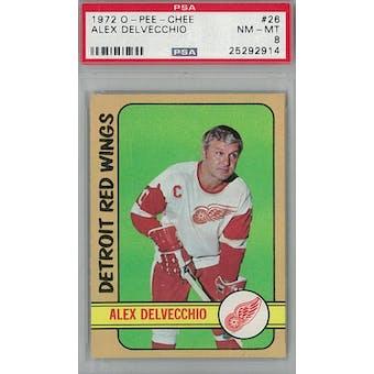 1972/73 O-Pee-Chee Hockey #26 Alex Delvecchio PSA 8 (NM-MT) *2914 (Reed Buy)