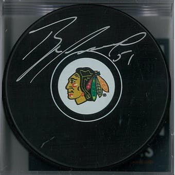 Brian Campbell Autographed Chicago Blackhawks Hockey Puck