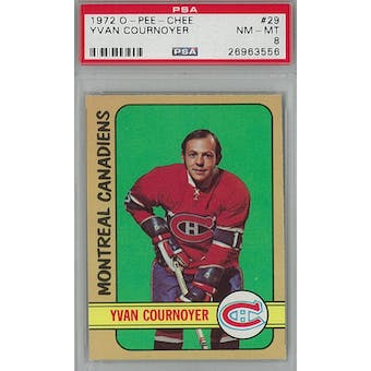1972/73 O-Pee-Chee Hockey #29 Yvan Cournoyer PSA 8 (NM-MT) *3556 (Reed Buy)