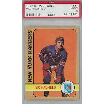 1972/73 O-Pee-Chee Hockey #31 Vic Hadfield PSA 9 (Mint) *9962 (Reed Buy)