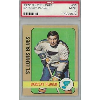 1972/73 O-Pee-Chee Hockey #35 Barclay Plager PSA 9 (Mint) *6573 (Reed Buy)