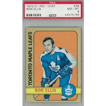 1972/73 O-Pee-Chee Hockey #36 Ron Ellis PSA 8 (NM-MT) *5169 (Reed Buy)