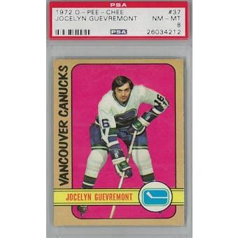 1972/73 O-Pee-Chee Hockey #37 Jocelyn Guevremont PSA 8 (NM-MT) *4212 (Reed Buy)