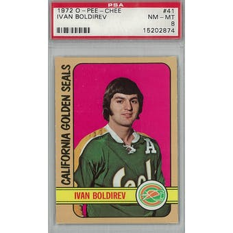 1972/73 O-Pee-Chee Hockey #41 Ivan Boldirev PSA 8 (NM-MT) *2874 (Reed Buy)
