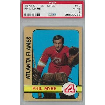 1972/73 O-Pee-Chee Hockey #43 Phil Myre RC PSA 9 (Mint) *0756 (Reed Buy)
