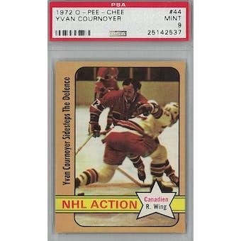 1972/73 O-Pee-Chee Hockey #44 Yvan Cournoyer PSA 9 (Mint) *2537 (Reed Buy)