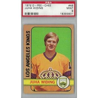 1972/73 O-Pee-Chee Hockey #46 Juha Widing PSA 9 (Mint) *3931 (Reed Buy)