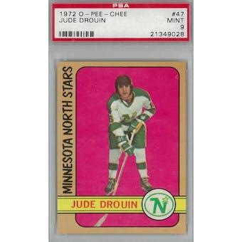 1972/73 O-Pee-Chee Hockey #47 Jude Drouin PSA 9 (Mint) *9028 (Reed Buy)