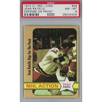 1972/73 O-Pee-Chee Hockey #48 Jean Ratelle PSA 8 (NM-MT) *4209 (Reed Buy)