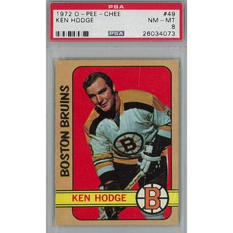 1972/73 O-Pee-Chee Hockey #49 Ken Hodge PSA 8 (NM-MT) *4073 (Reed Buy)