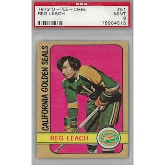 1972/73 O-Pee-Chee Hockey #51 Reggie Leach PSA 9 (Mint) *4515 (Reed Buy)