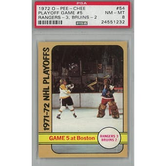 1972/73 O-Pee-Chee Hockey #54 Playoff Game #5 PSA 8 (NM-MT) *1232 (Reed Buy)